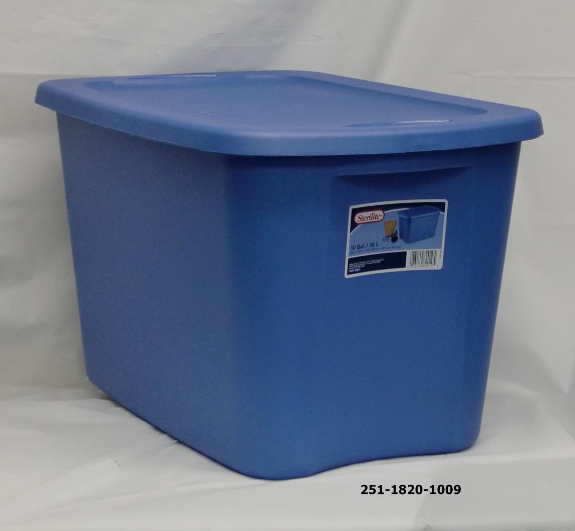 Sterilite 10gal Tote Box Lapis 9pc 1820 1009 171 D J